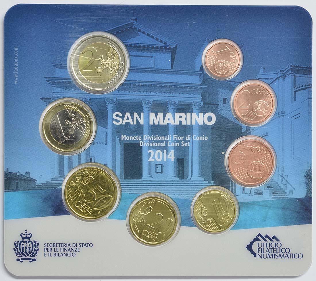 Vorderseite:San Marino : 3,88 Euro KMS San Marino  2014 Stgl.