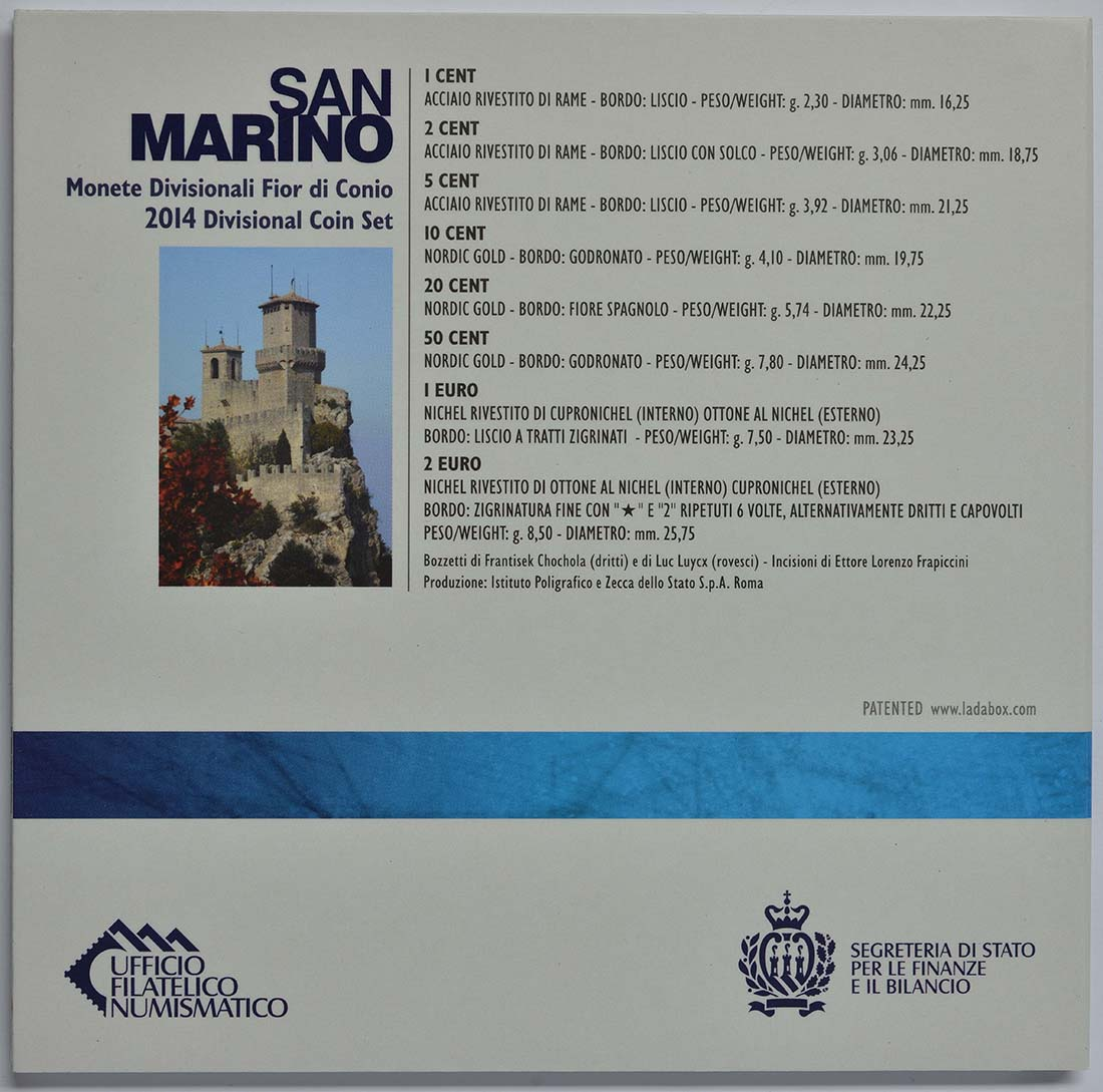 Zertifikat:San Marino : 3,88 Euro KMS San Marino  2014 Stgl.