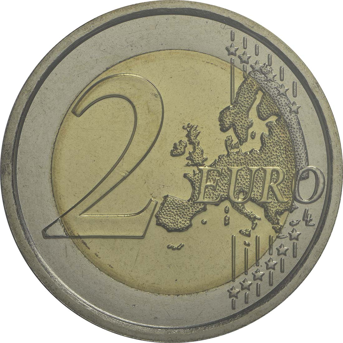 Vorderseite:San Marino : 2 Euro 500. Todestag Donato Bramante  2014 Stgl.