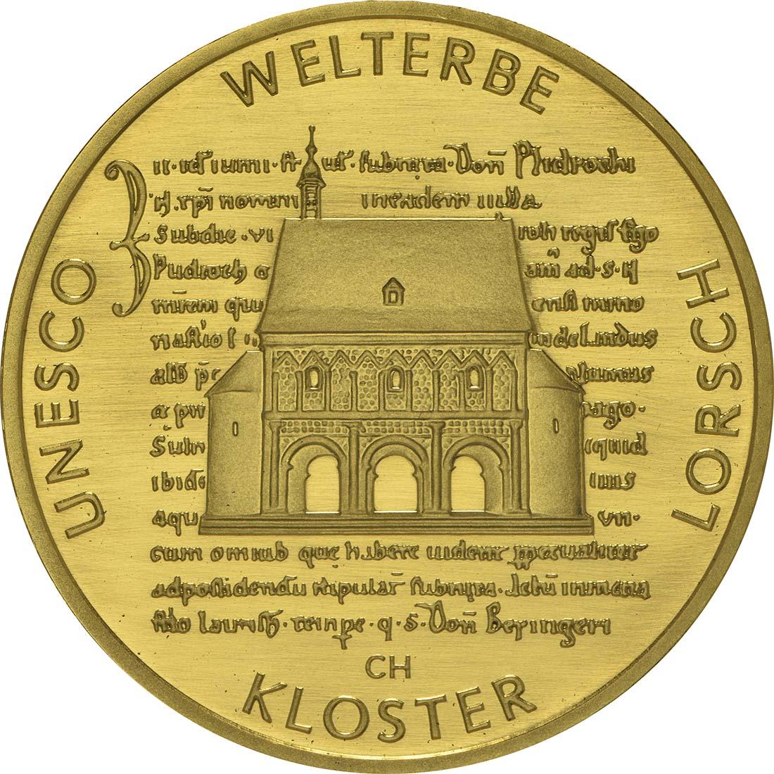 Vorderseite:Deutschland : 100 Euro Kloster Lorsch 1250. Gründungsjubiläum  2014 Stgl.