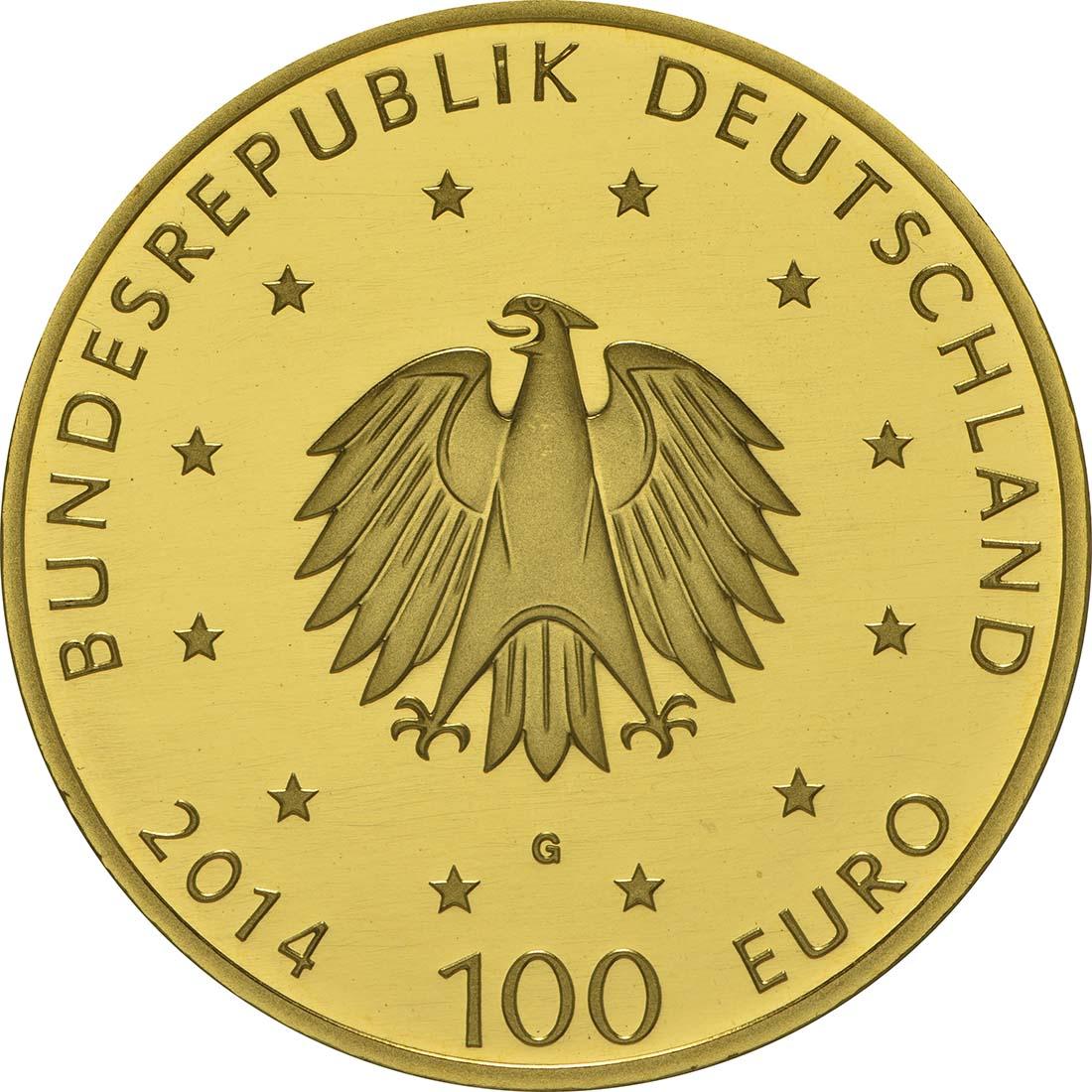 Rückseite :Deutschland : 100 Euro Kloster Lorsch 1250. Gründungsjubiläum  2014 Stgl.
