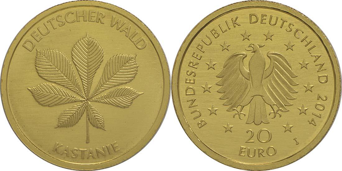 Deutschland : 20 Euro Kastanie  2014 Stgl.