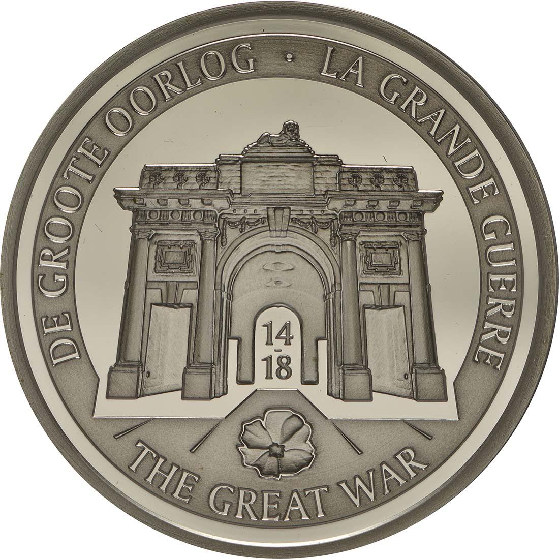Vorderseite:Belgien : 10 Euro 100. Jahrestag des Beginns des 1. Weltkrieges  2014 PP