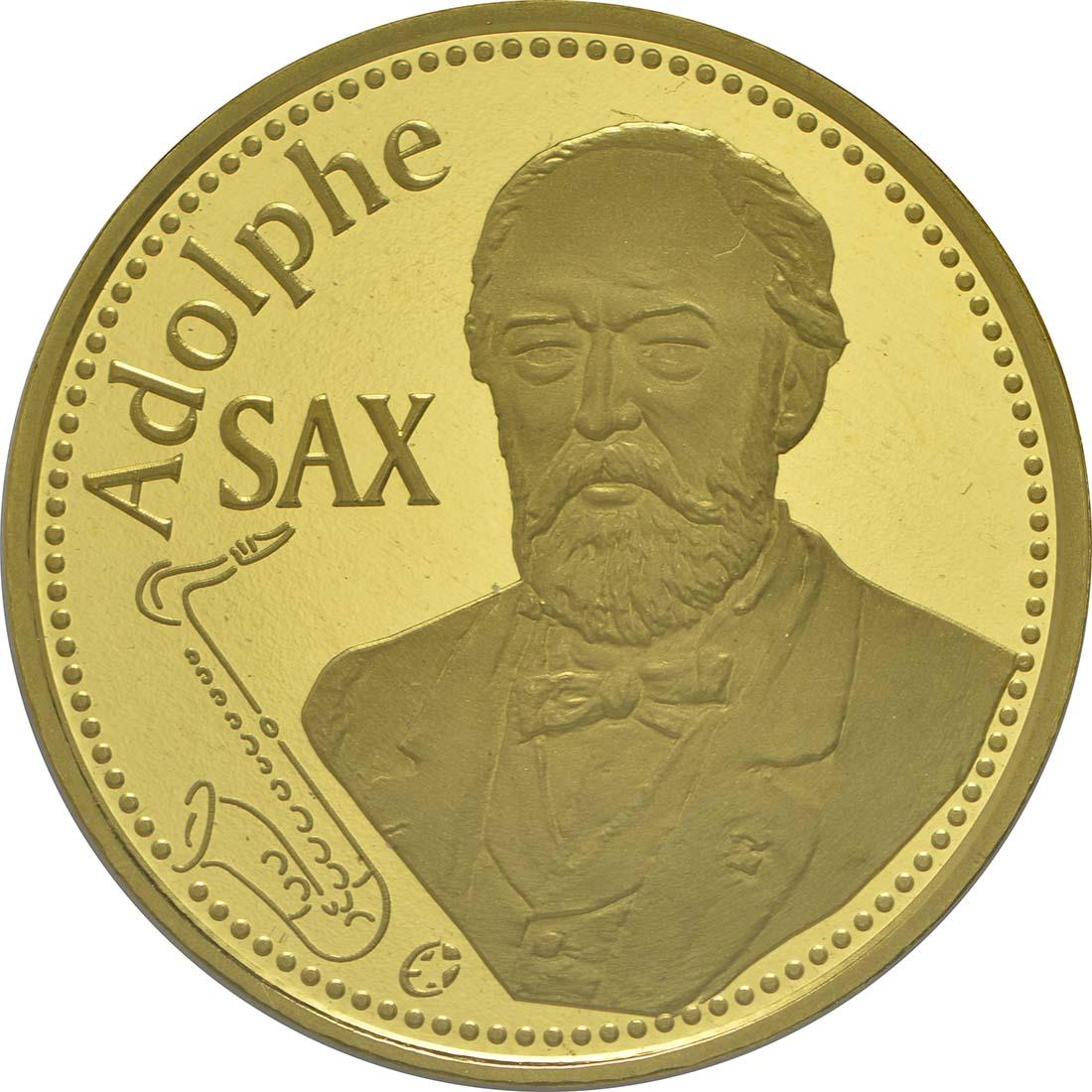 Vorderseite:Belgien : 50 Euro 200. Geburtstag von Adolphe Sax  2014 PP