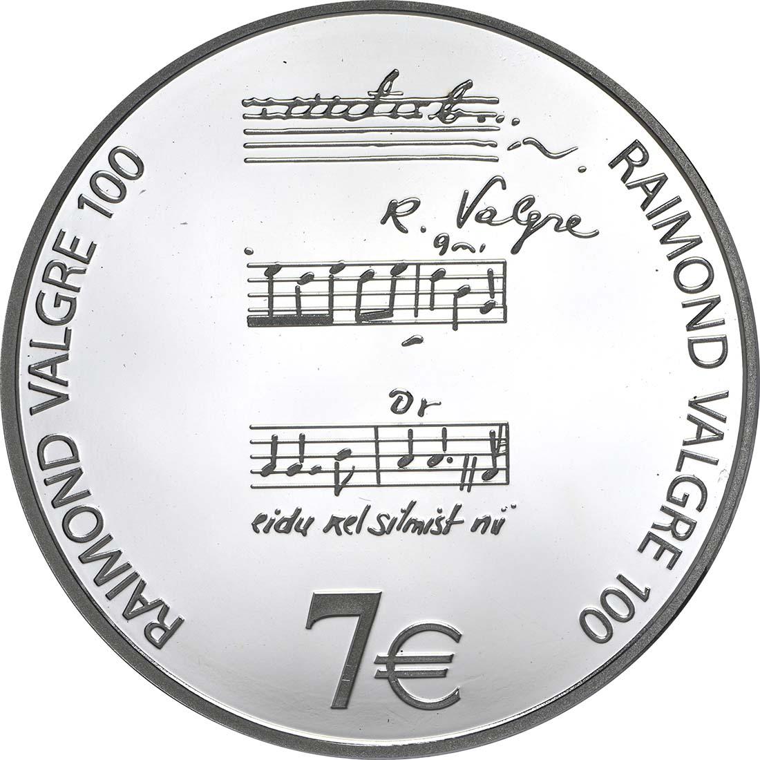 Vorderseite:Estland : 7 Euro Raimond Valgre  2013 PP