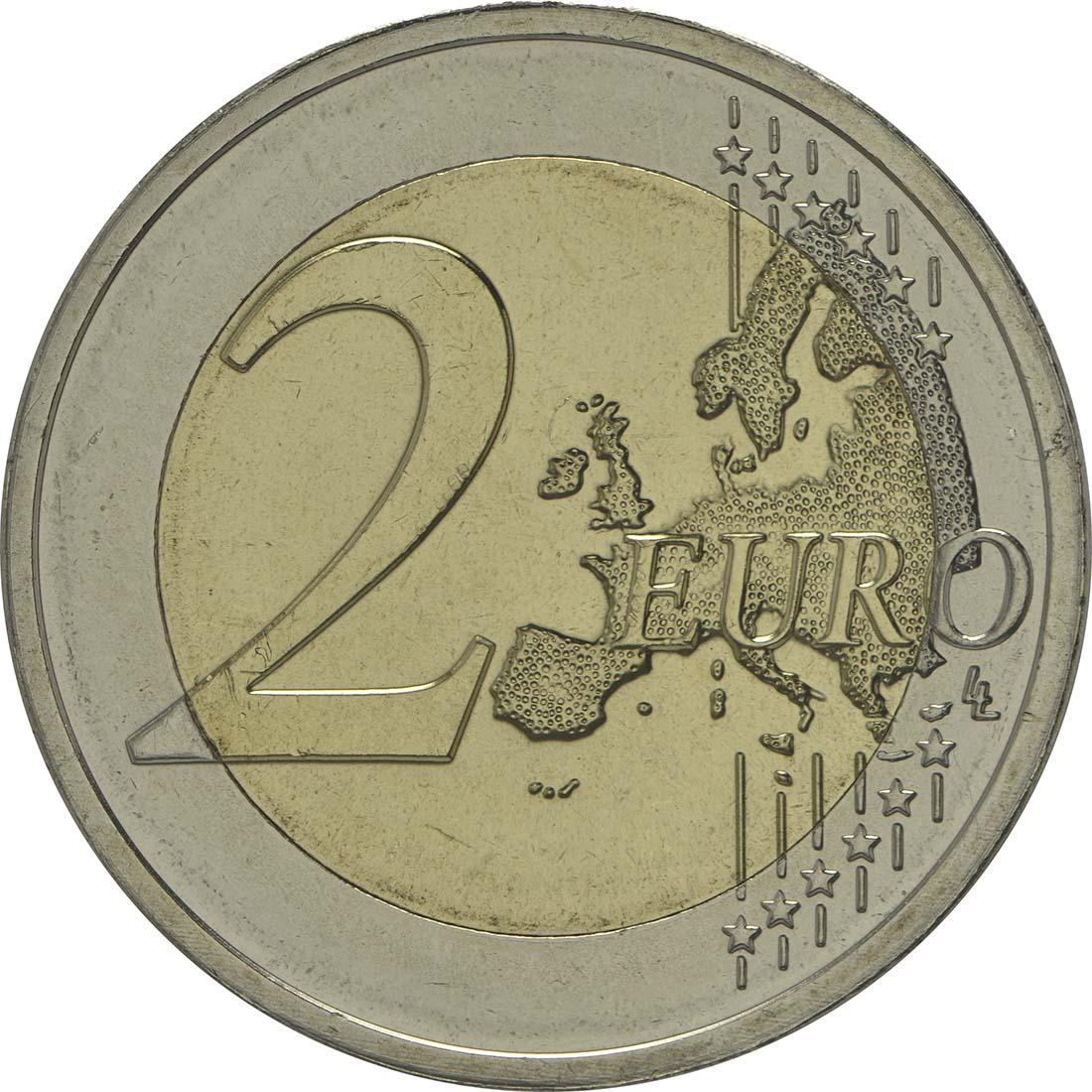 Vorderseite :Luxemburg : 2 Euro 175 Jahre Unabhängigkeit Luxemburgs  2014 bfr