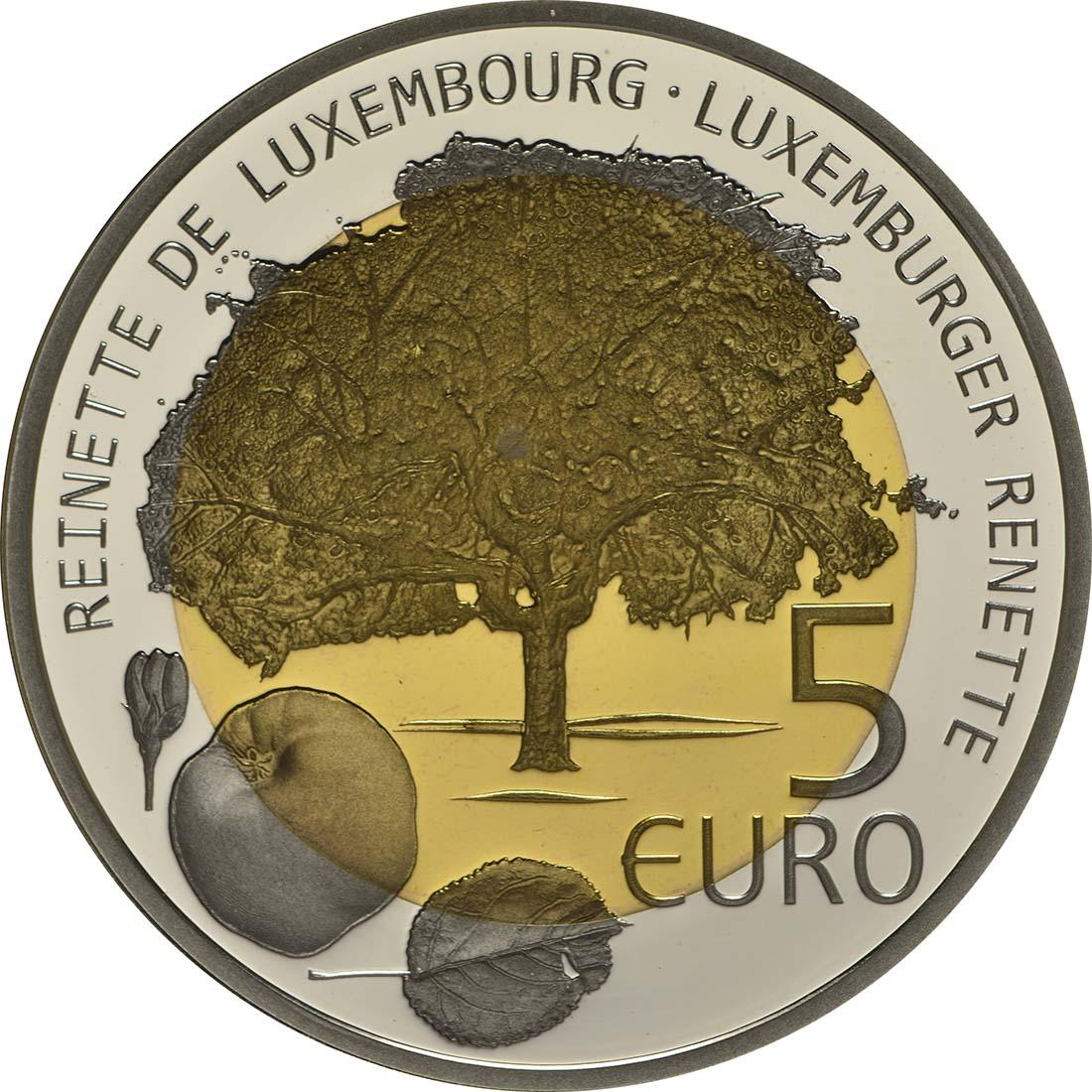 Vorderseite:Luxemburg : 5 Euro Apfelbaum  2014 PP