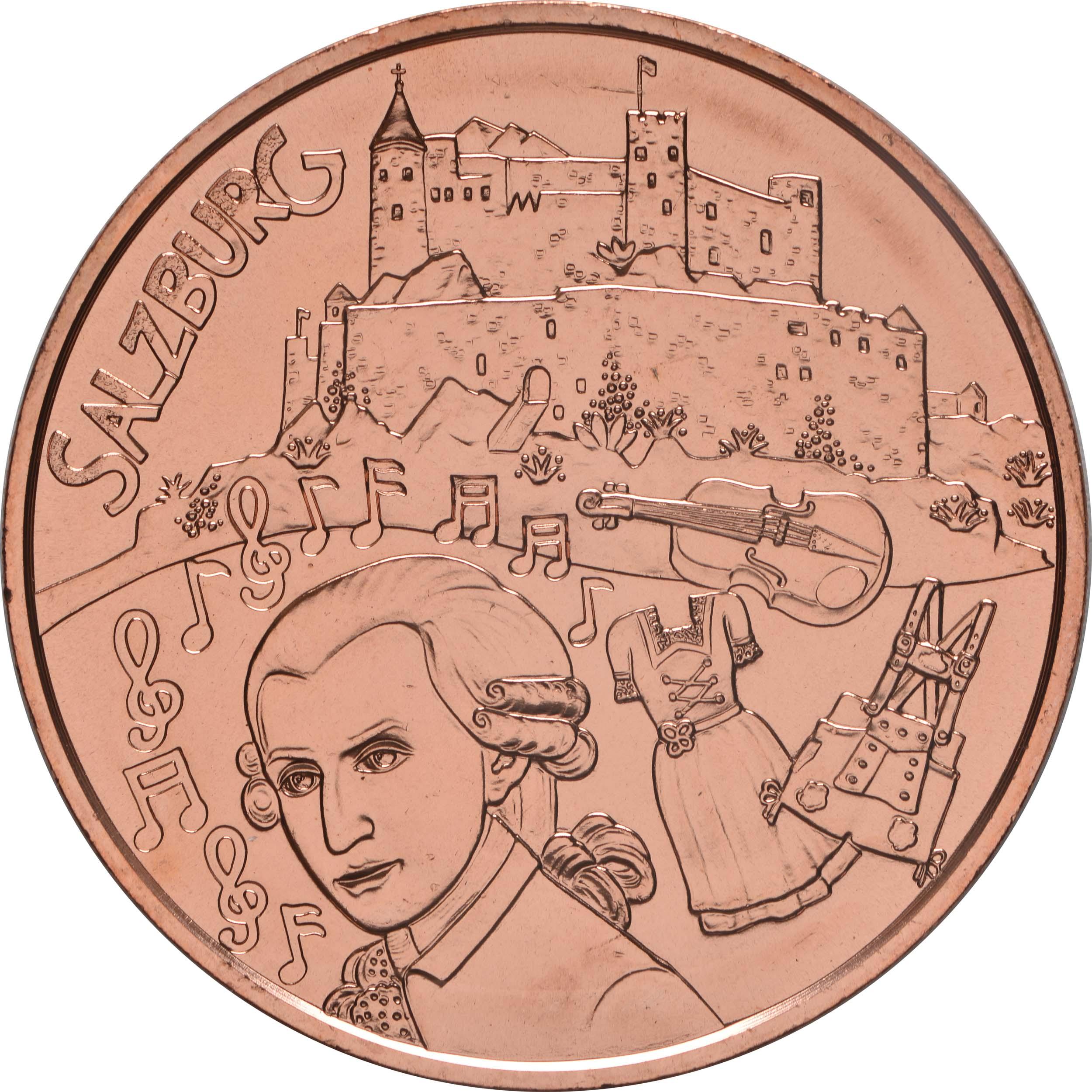Vorderseite:Österreich : 10 Euro Salzburg  2014 Stgl.