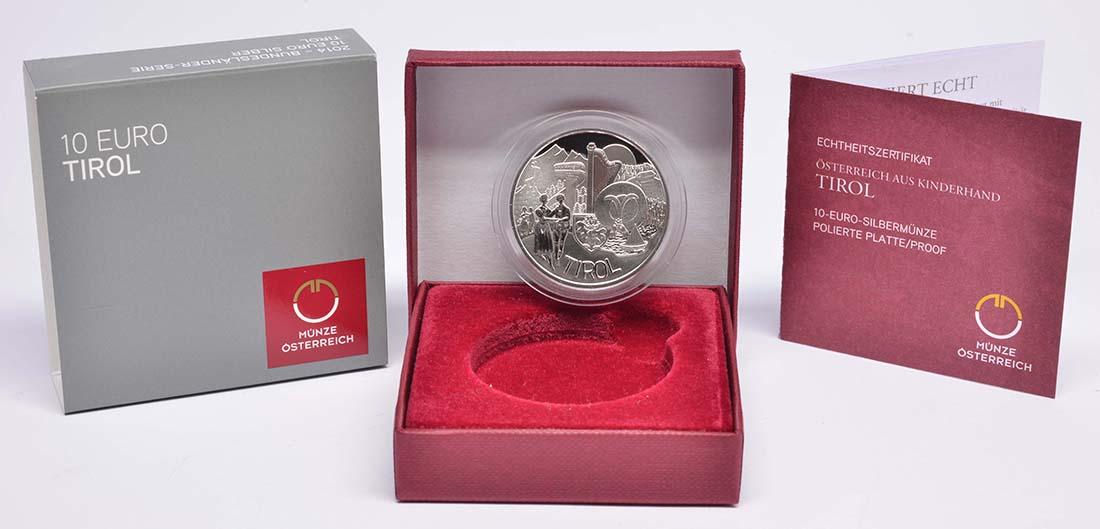 Lieferumfang:Österreich : 10 Euro Tirol  2014 PP