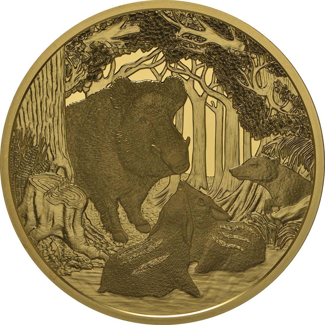 Rückseite:Österreich : 100 Euro Wildschwein  2014 PP