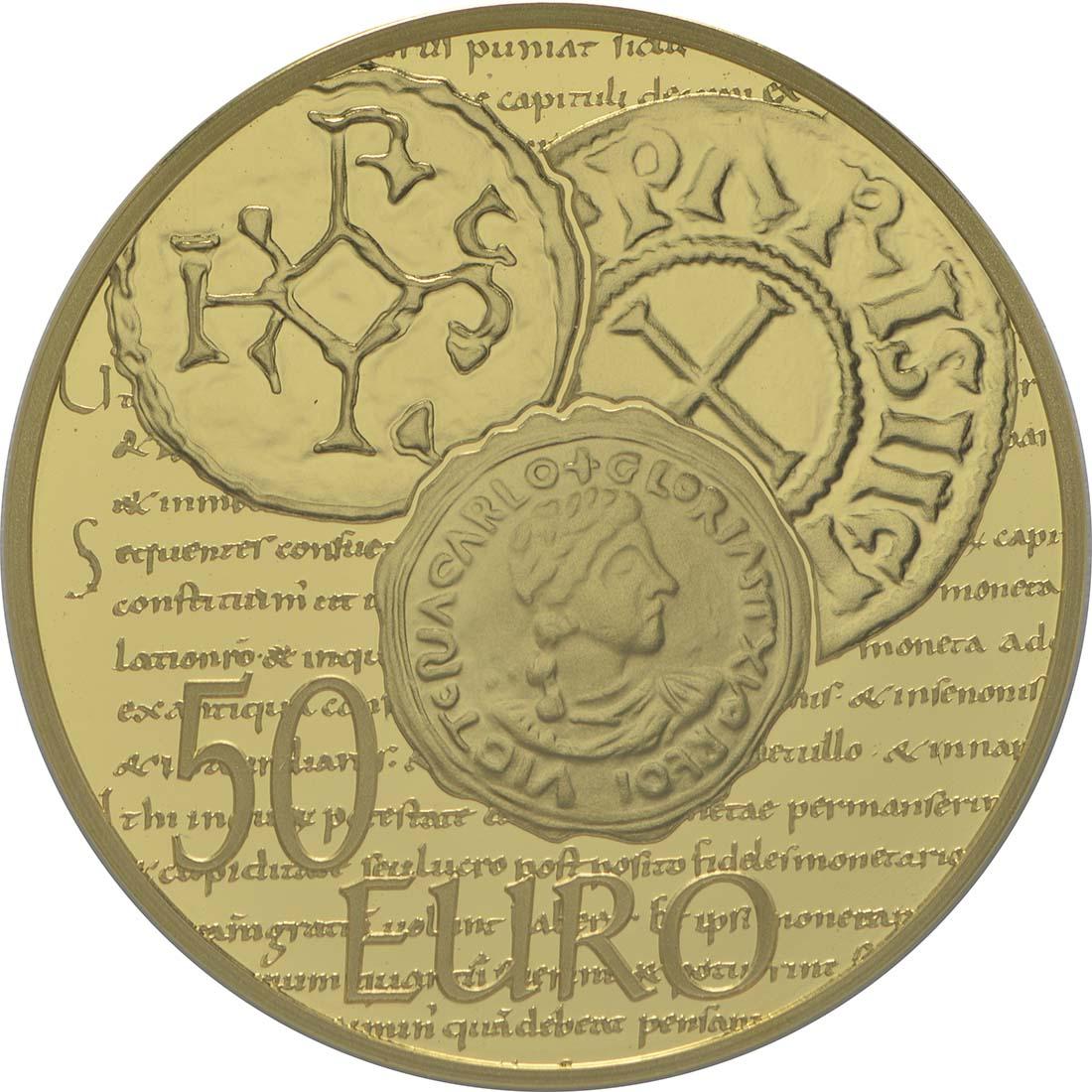 Rückseite:Frankreich : 50 Euro Karl der Kahle  2014 PP