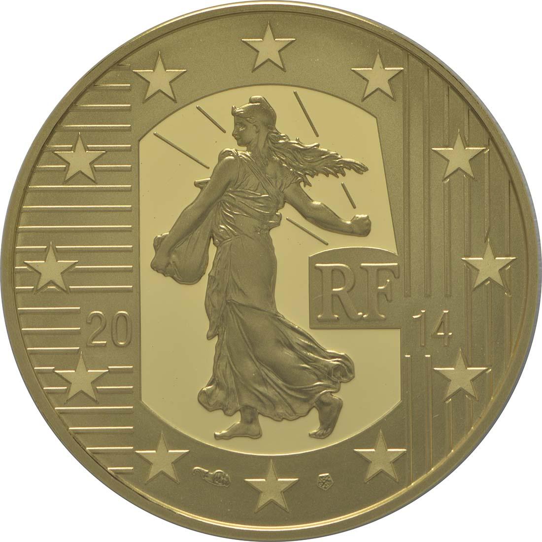 Vorderseite:Frankreich : 50 Euro Karl der Kahle  2014 PP