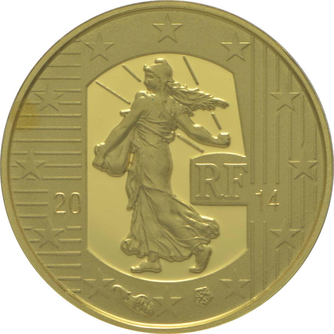 Vorderseite:Frankreich : 5 Euro Karl der Kahle  2014 PP
