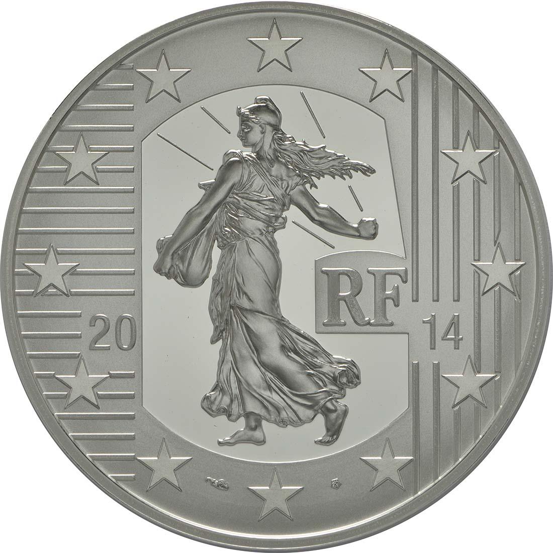 Vorderseite:Frankreich : 10 Euro Karl der Kahle  2014 PP