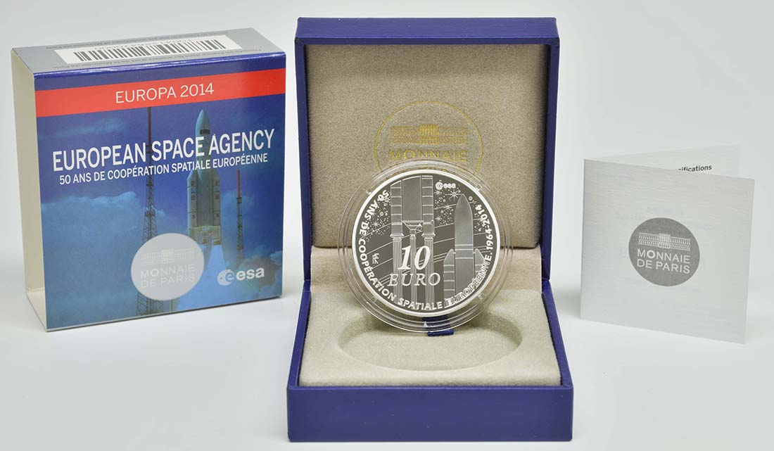 Lieferumfang:Frankreich : 10 Euro Europäische Weltraumorganisation ESA  2014 PP
