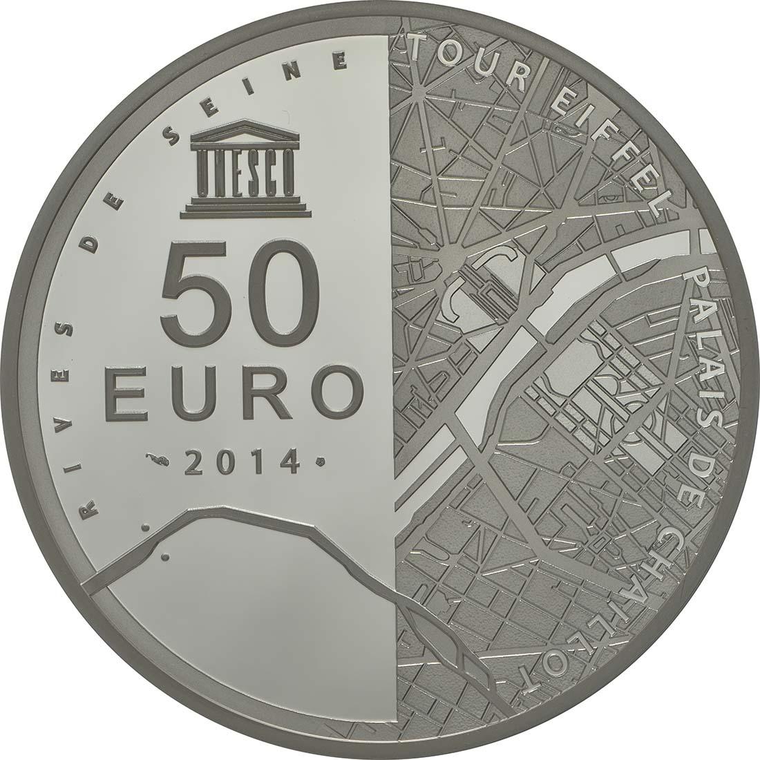 Rückseite:Frankreich : 50 Euro Ufer der Seine  2014 PP