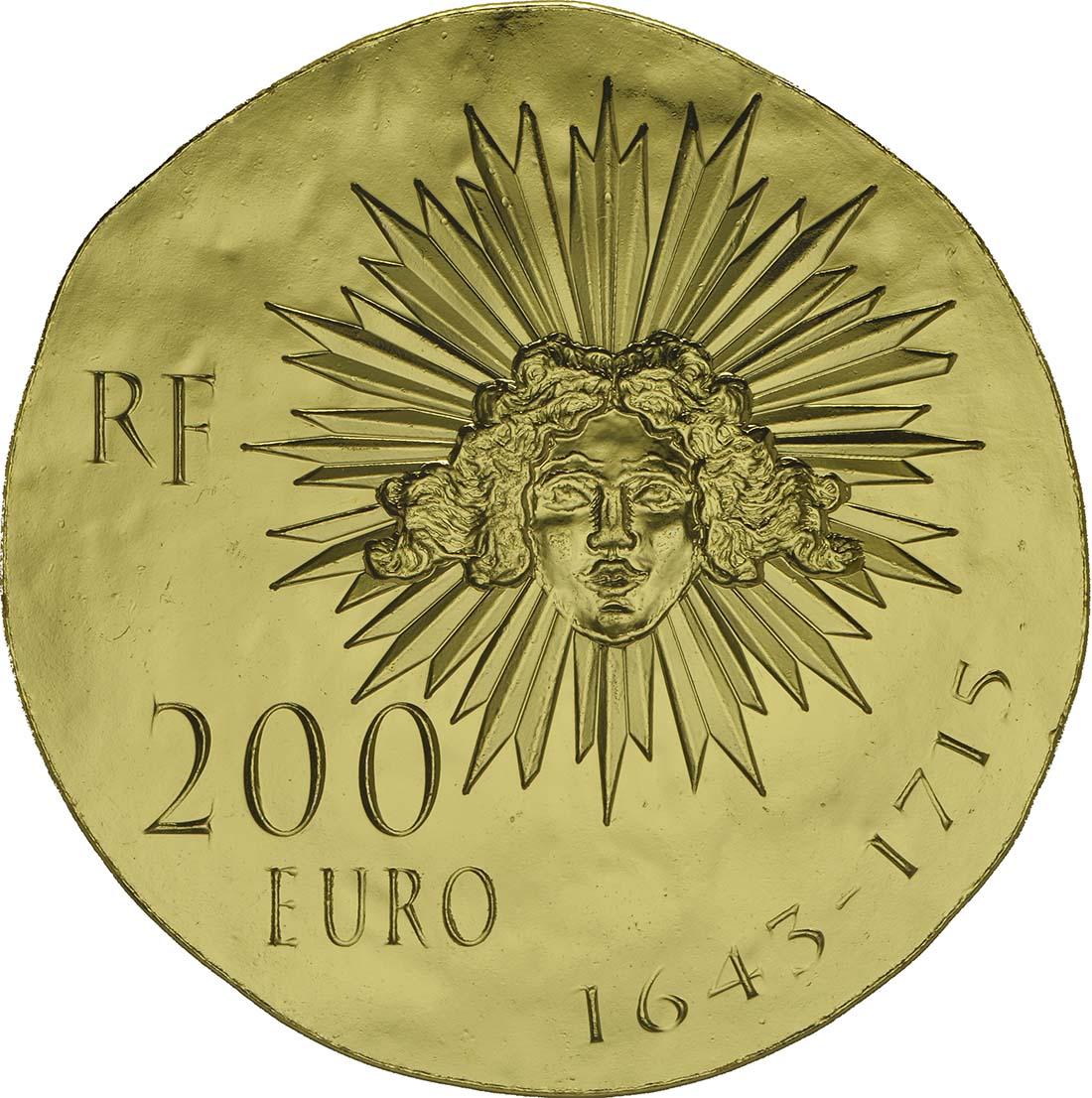 Rückseite:Frankreich : 200 Euro Louis XIV.  2014 Stgl.