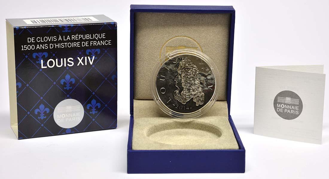 Lieferumfang:Frankreich : 10 Euro Louis XIV.  2014 Stgl.
