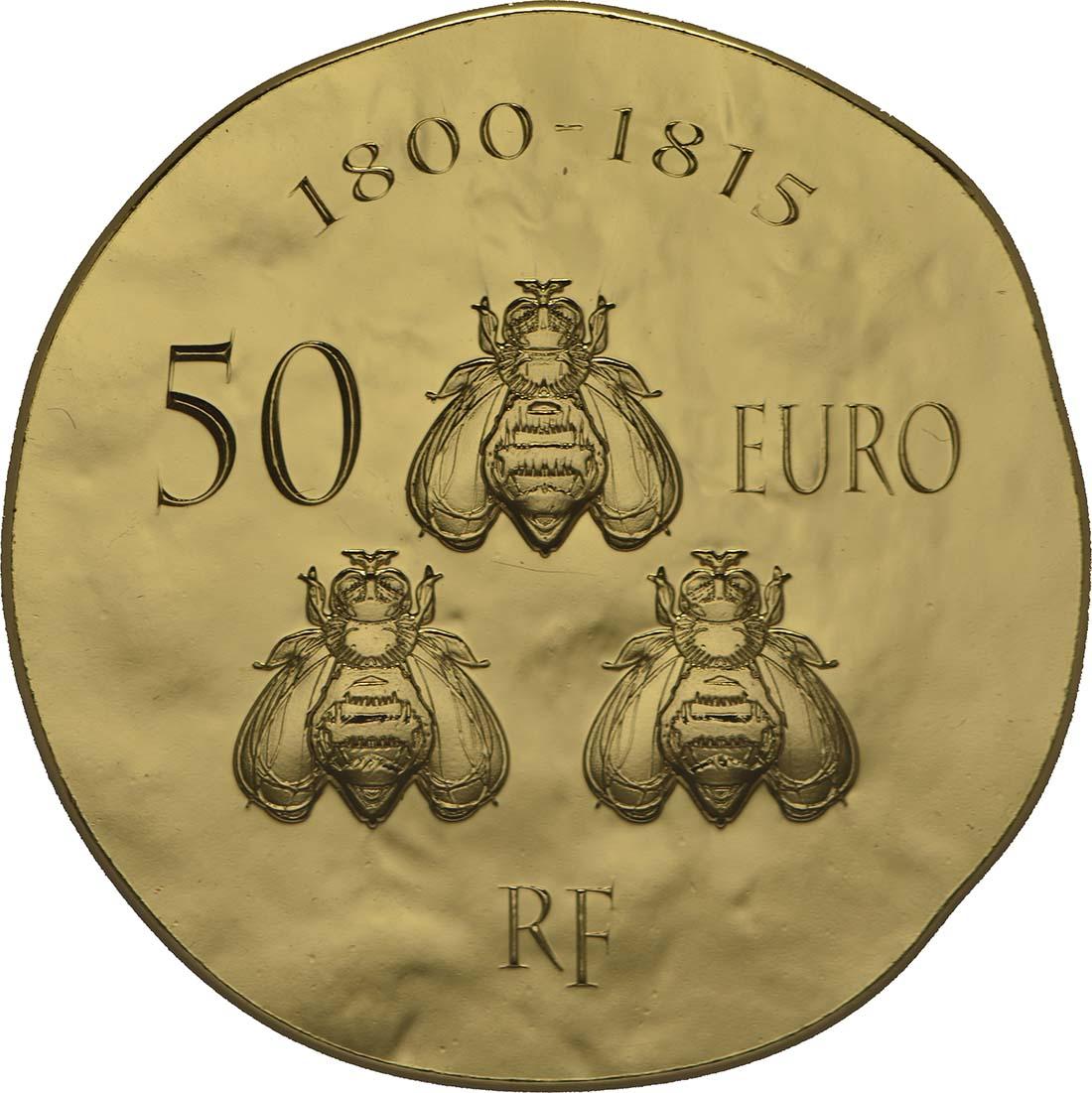 Rückseite:Frankreich : 50 Euro Napoleon I.  2014 Stgl.