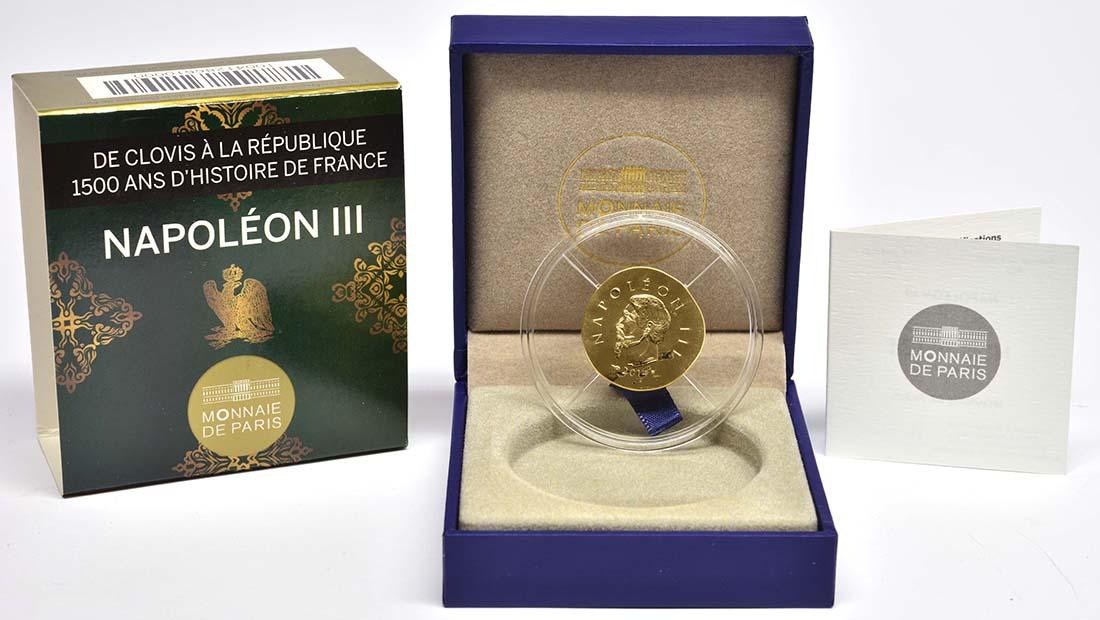 Lieferumfang:Frankreich : 50 Euro Napoleon III.  2014 Stgl.
