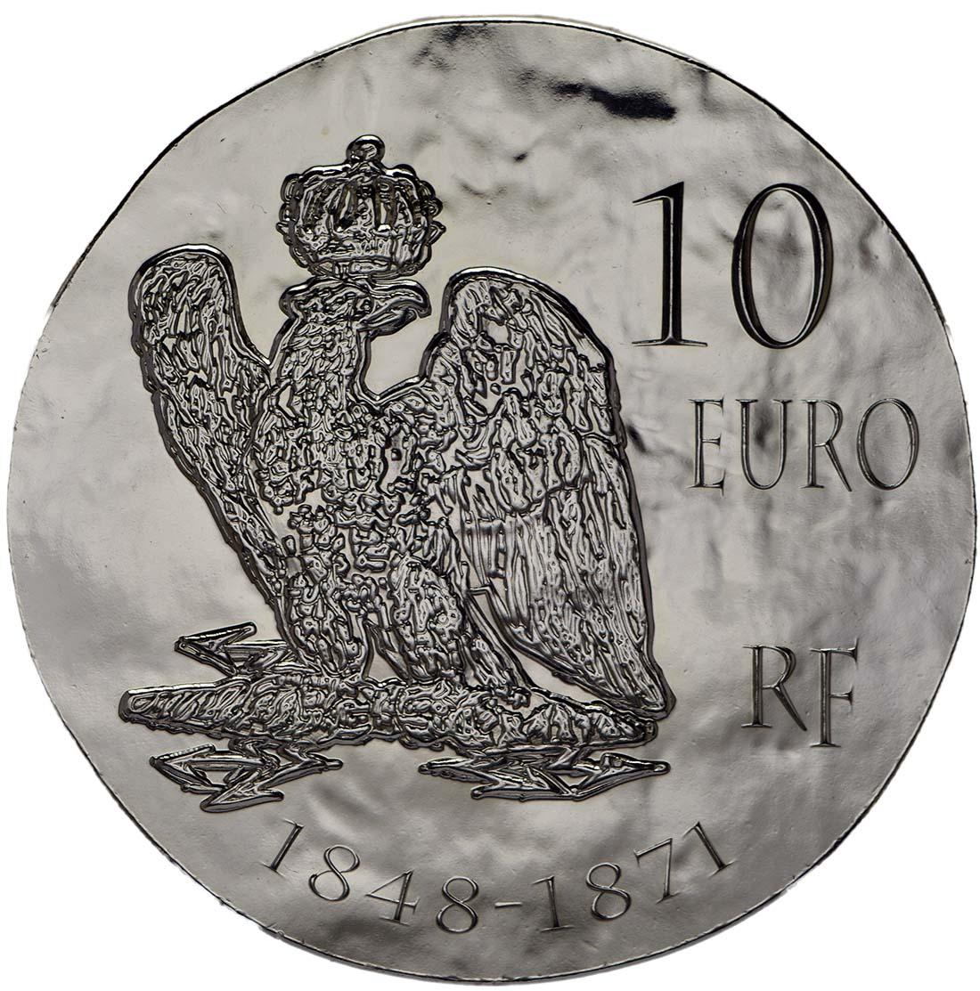 Rückseite:Frankreich : 10 Euro Napoleon III.  2014 Stgl.