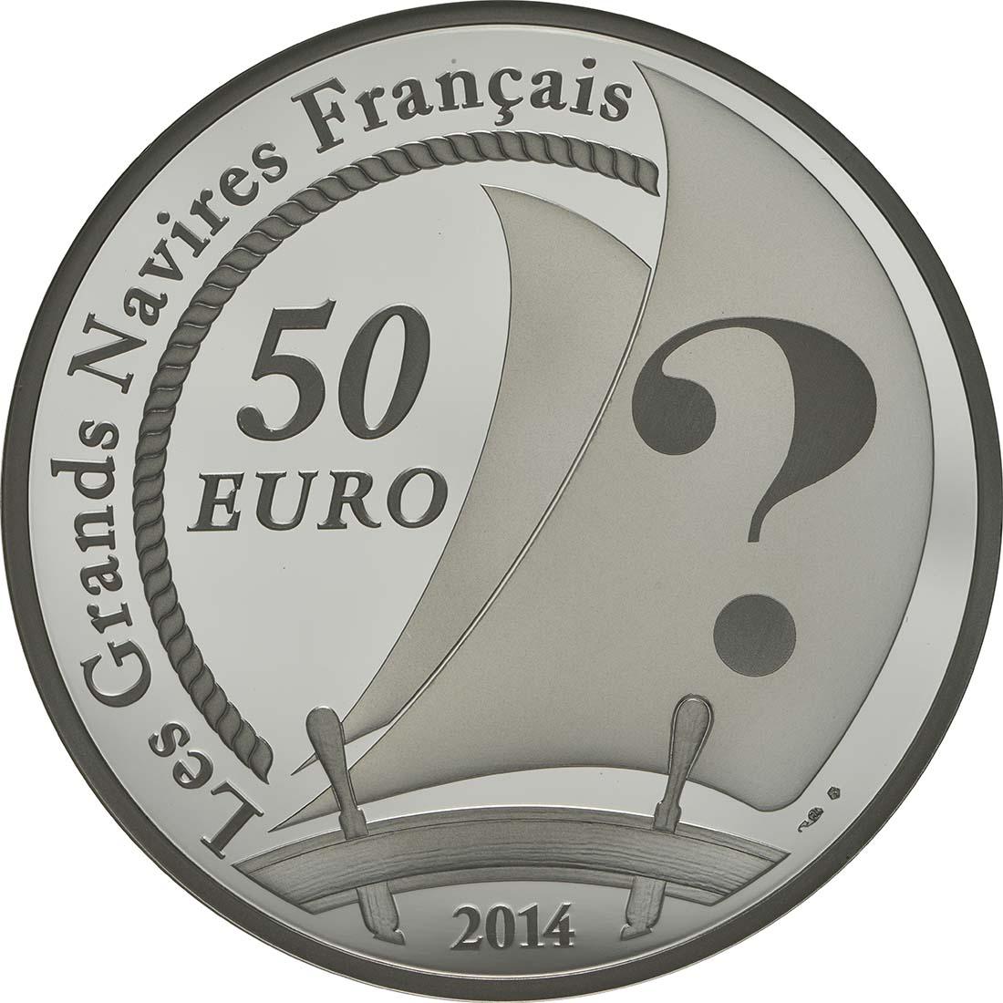 Rückseite:Frankreich : 50 Euro Pourquoi Pas  2014 PP