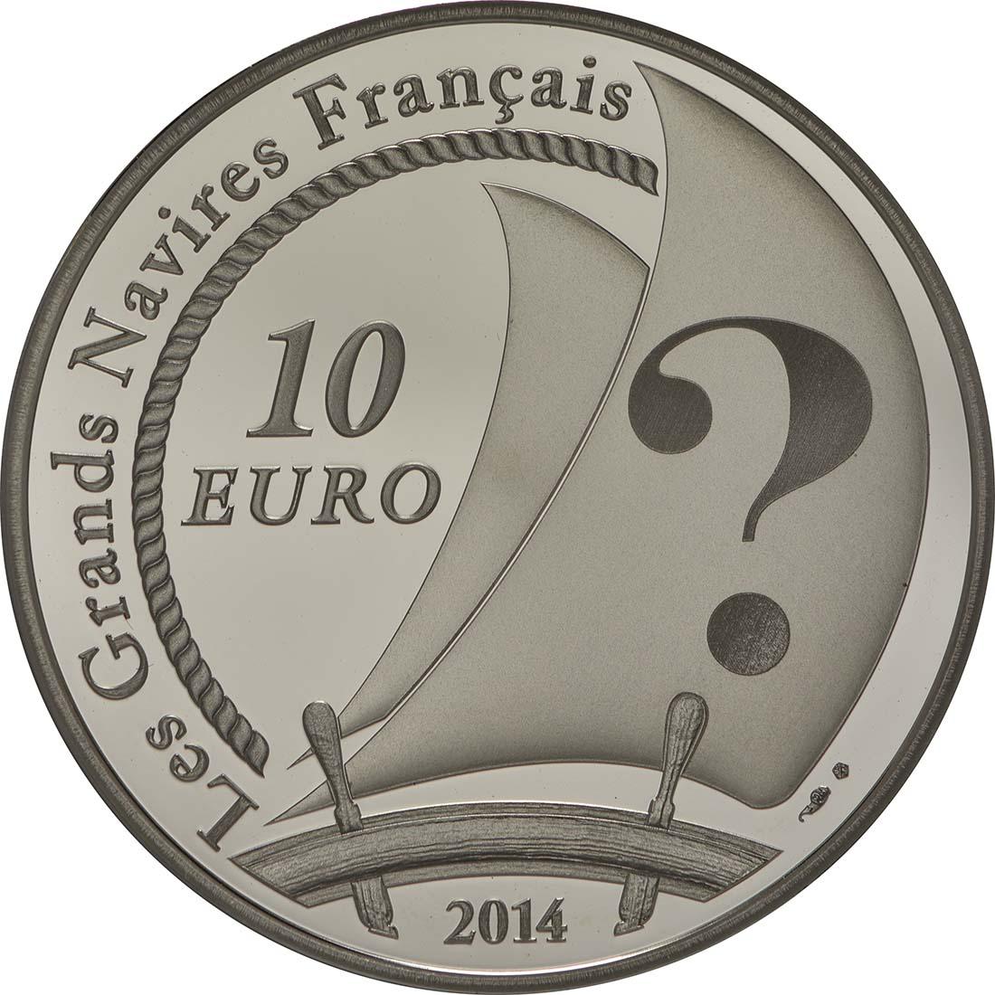 Rückseite:Frankreich : 10 Euro Pourquoi Pas  2014 PP