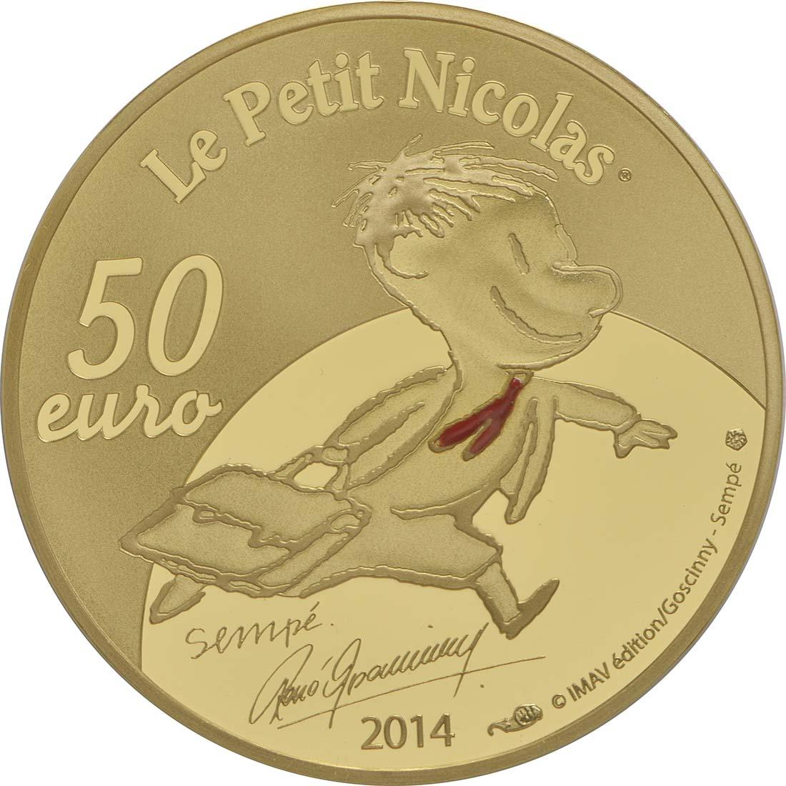 Rückseite:Frankreich : 50 Euro Le Petit Nicolas  2014 PP