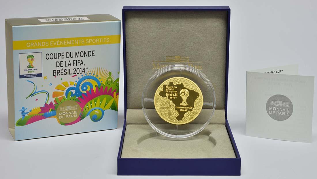 Münzausgaben Zur Fußball Wm 2014 In Brasilien