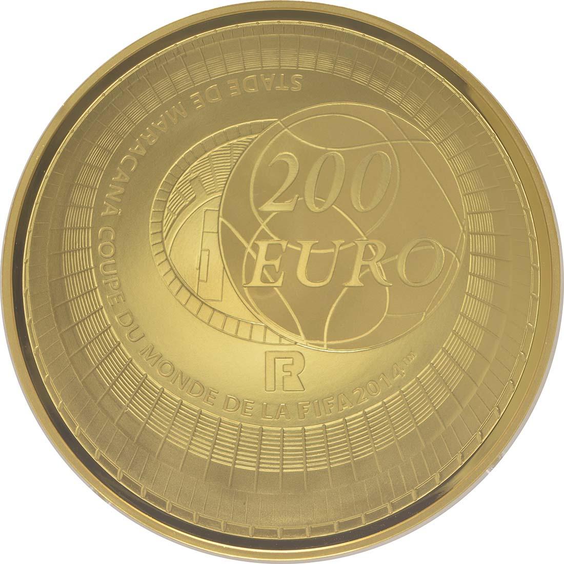 Rückseite:Frankreich : 200 Euro Fußball WM  2014 PP