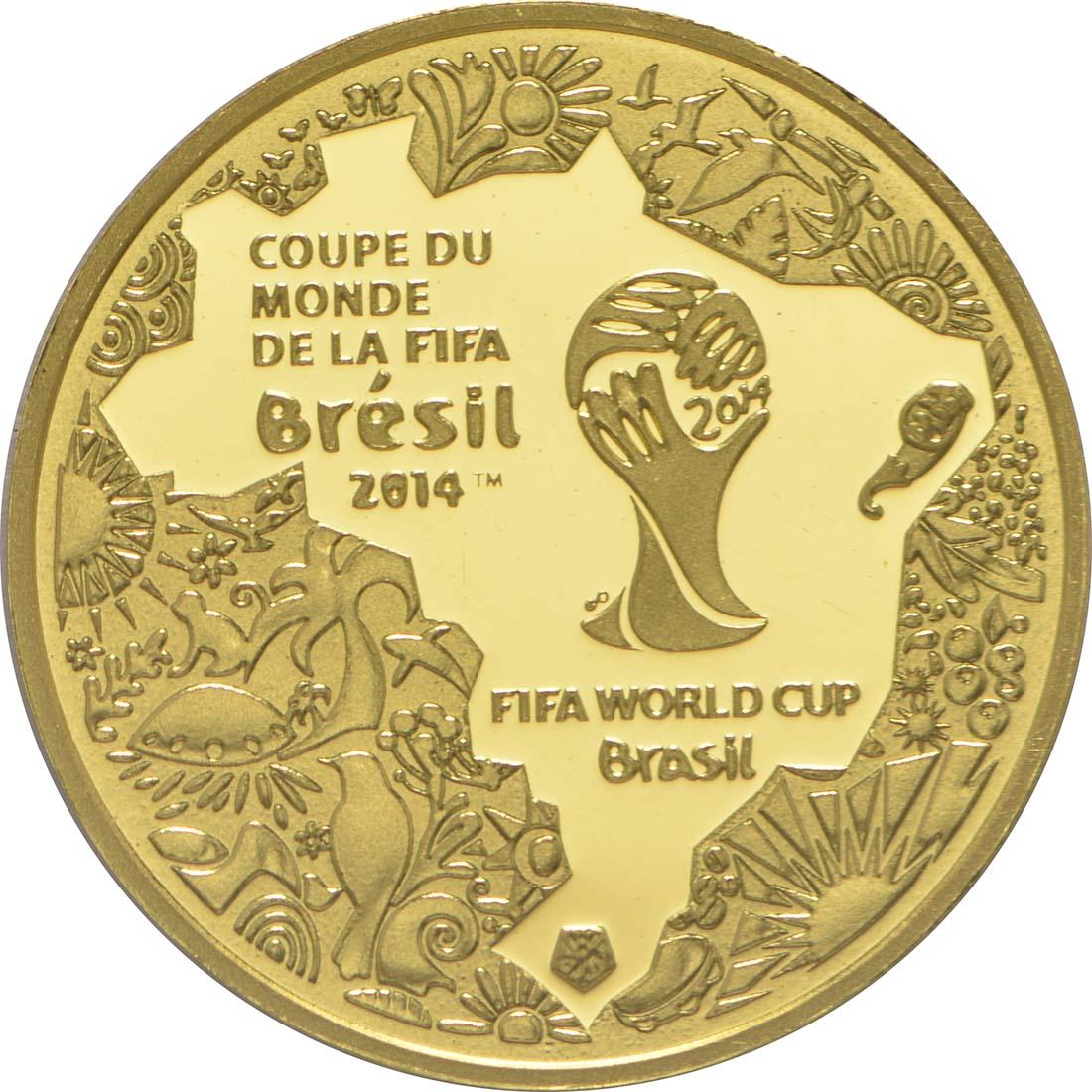 Vorderseite:Frankreich : 5 Euro Fußball WM  2014 PP