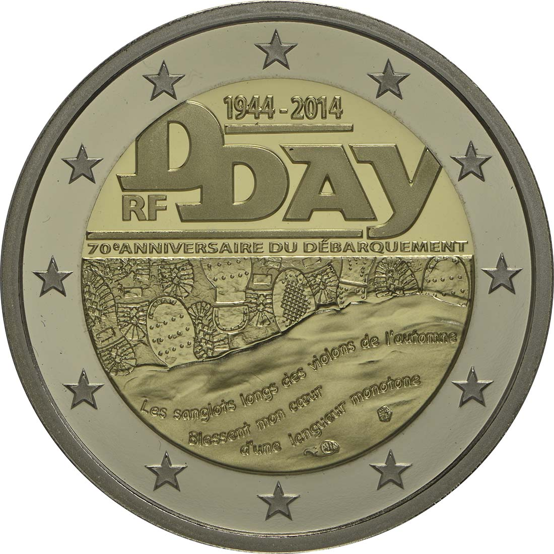 Frankreich 2 Euro D Day 2014 Pp
