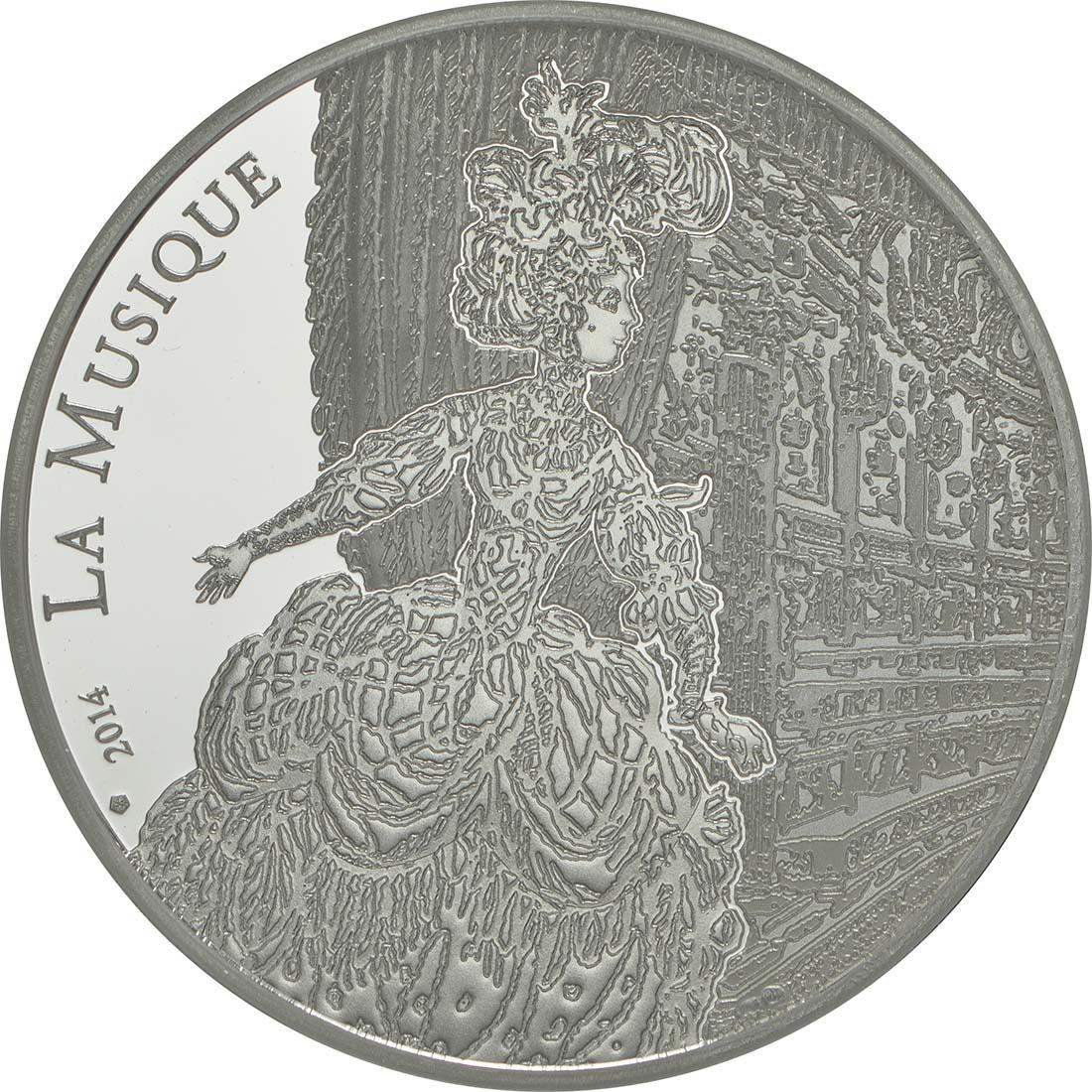 Vorderseite:Frankreich : 10 Euro Jean Baptiste Rameau  2014 PP