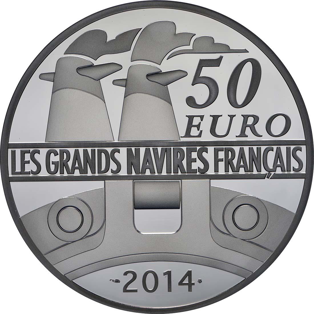 Rückseite:Frankreich : 50 Euro Le Normandie  2014 PP
