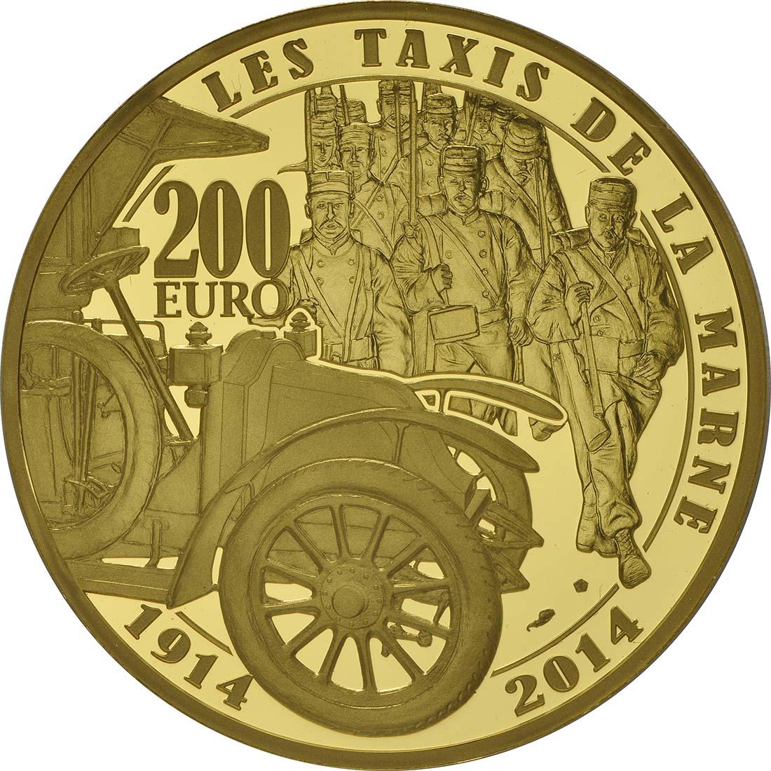 Rückseite:Frankreich : 200 Euro Frankreich im 1. Weltkrieg  2014 PP