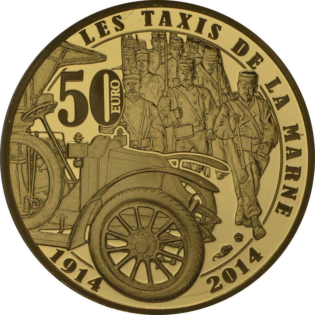 Rückseite:Frankreich : 50 Euro Frankreich im 1. Weltkrieg  2014 PP