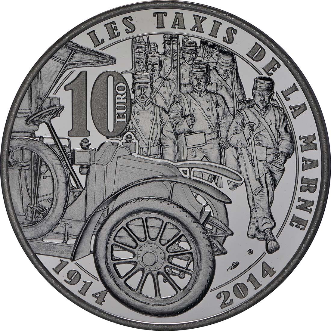 Rückseite:Frankreich : 10 Euro Frankreich im 1. Weltkrieg  2014 PP
