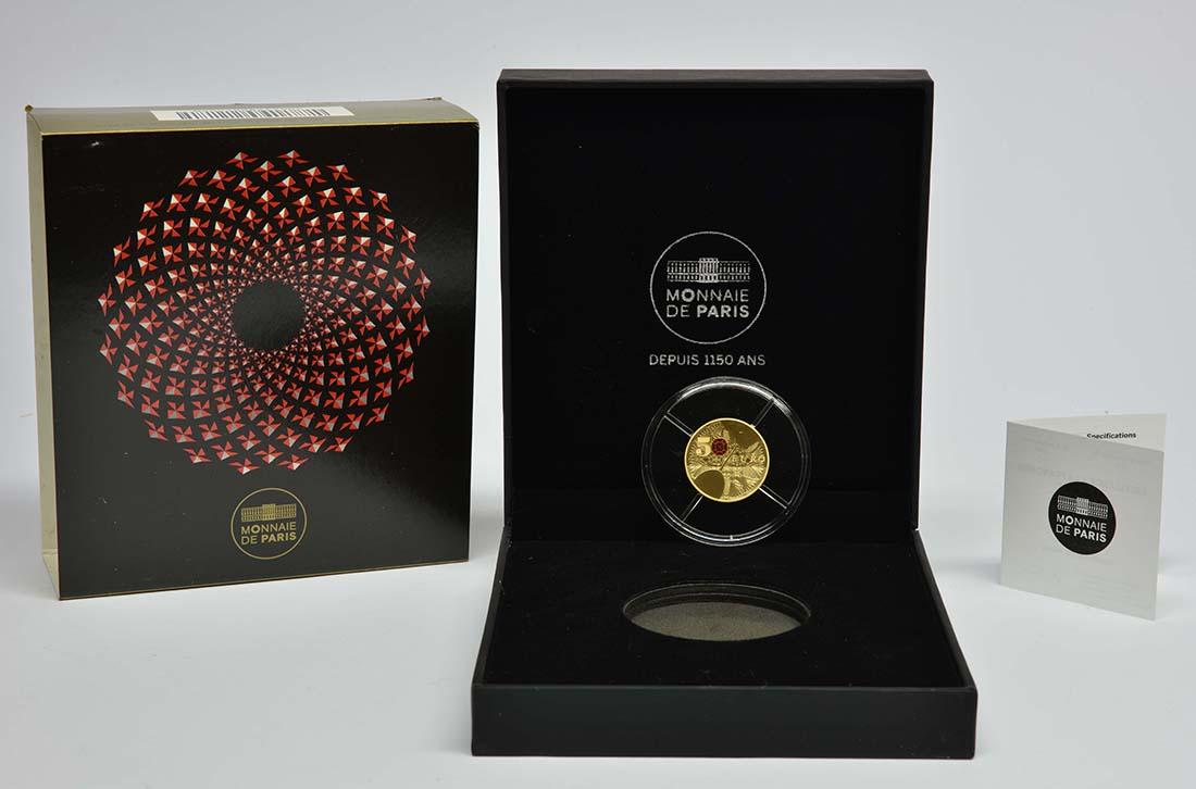 Lieferumfang:Frankreich : 50 Euro 250 Jahre Baccarat Kristallglasmanufaktur  2014 PP