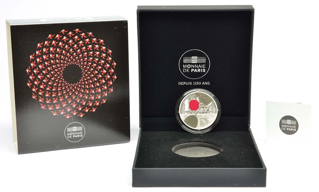 Lieferumfang:Frankreich : 10 Euro 250 Jahre Baccarat Kristallglasmanufaktur  2014 PP