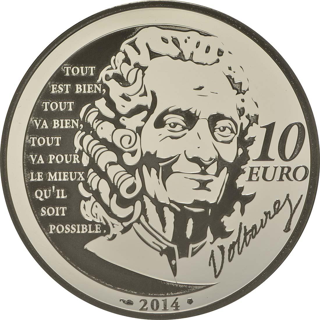 Rückseite:Frankreich : 10 Euro Candide  2014 PP
