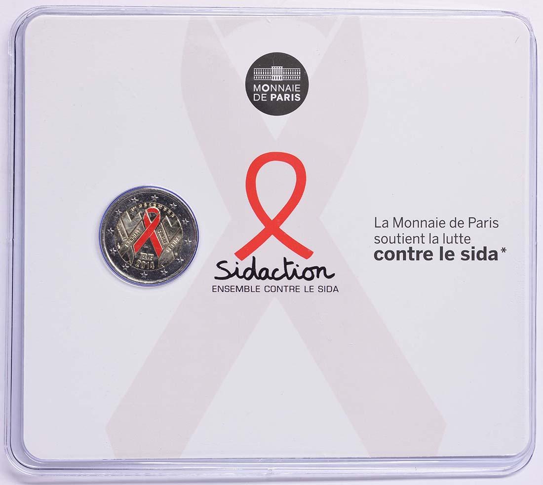 Lieferumfang:Frankreich : 2 Euro Welt AIDS Tag  2014 Stgl.