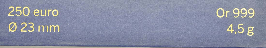 Zertifikat:Frankreich : 250 Euro Gallischer Hahn  2014 Stgl.