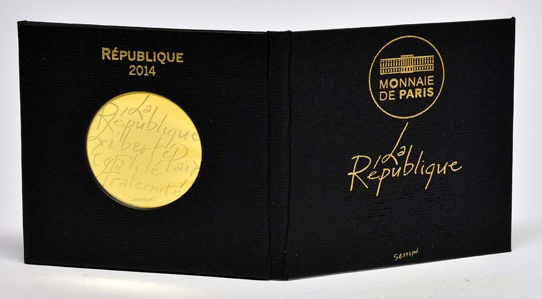Lieferumfang:Frankreich : 500 Euro Sempé  2014 Stgl.