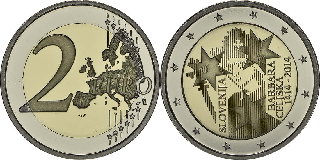 Slowenien : 2 Euro Jahrestag der Krönung von Barbara von Cilli  2014 PP