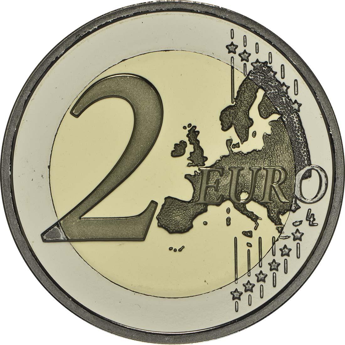 Vorderseite:Slowenien : 2 Euro Jahrestag der Krönung von Barbara von Cilli  2014 PP