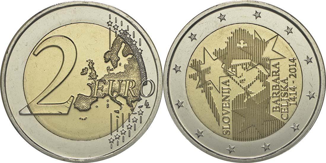 Slowenien : 2 Euro Jahrestag der Krönung von Barbara von Cilli  2014 bfr