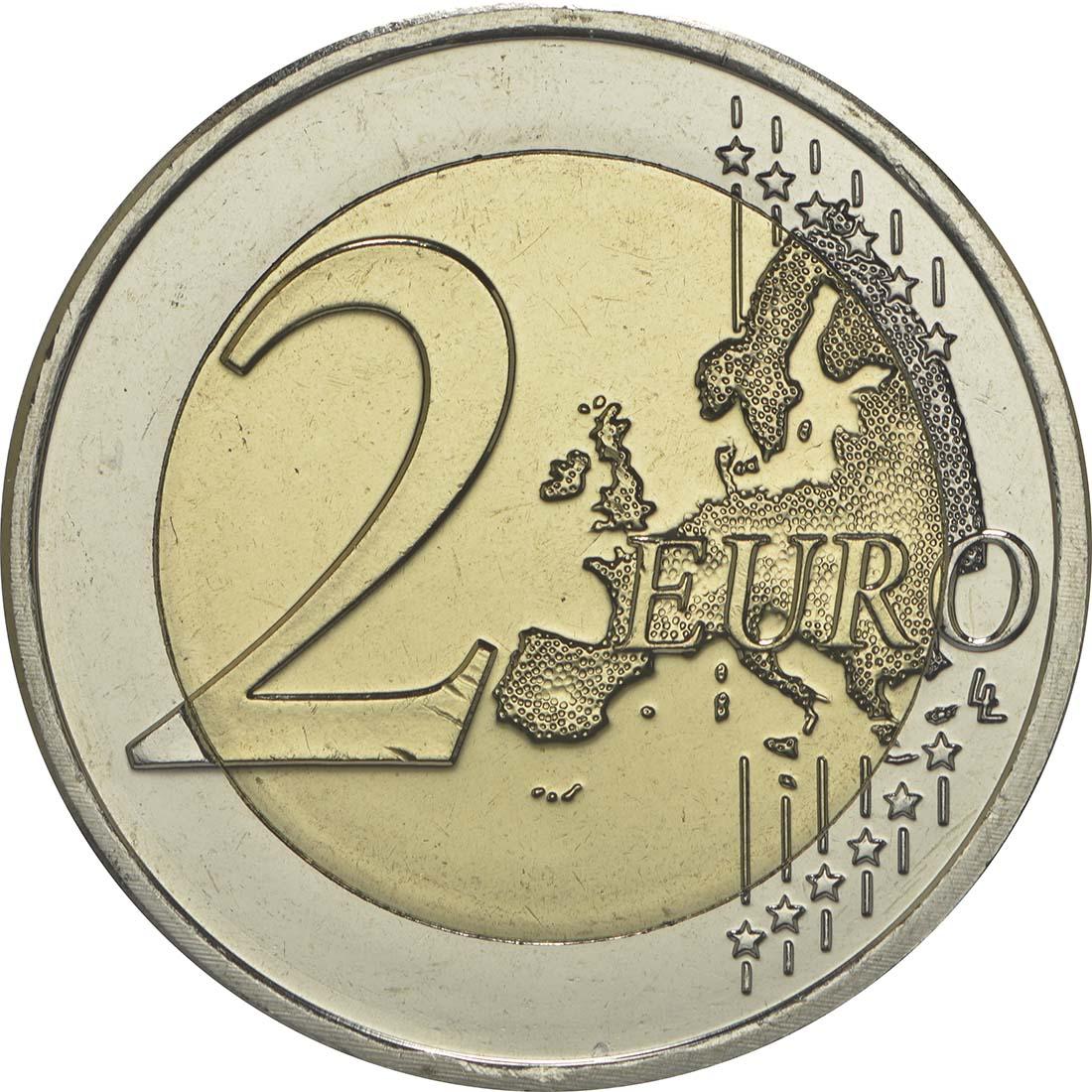 Vorderseite :Slowenien : 2 Euro Jahrestag der Krönung von Barbara von Cilli  2014 bfr