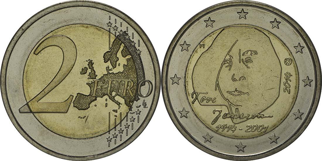 Finnland : 2 Euro Tove Jansson  2014 bfr