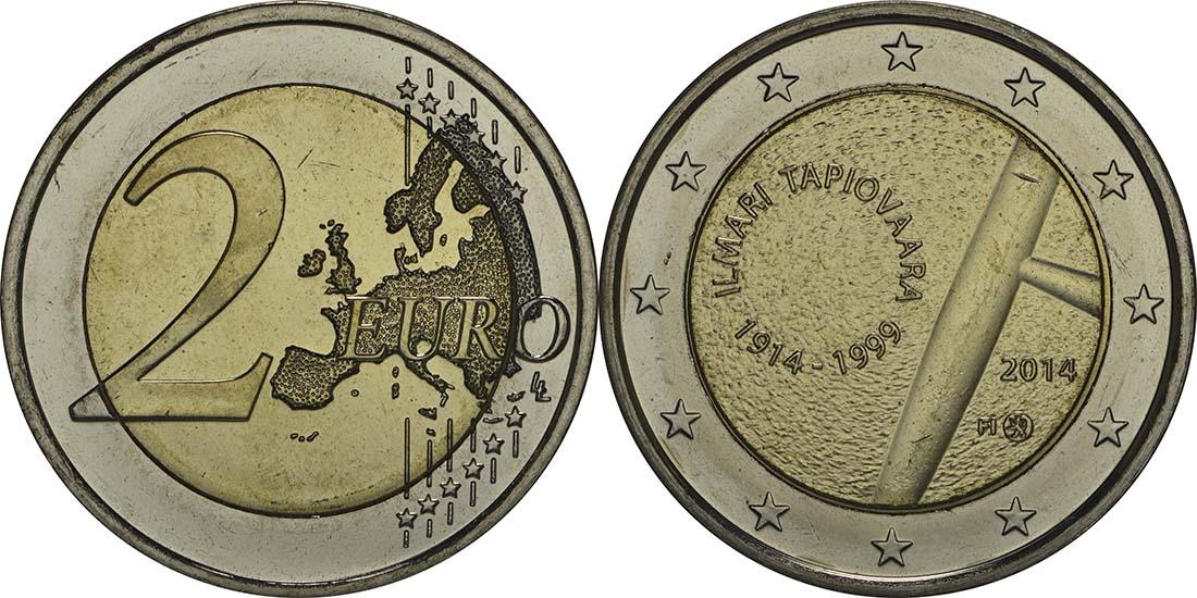 Lieferumfang:Finnland : 2 Euro Tapiovaara  2014 bfr