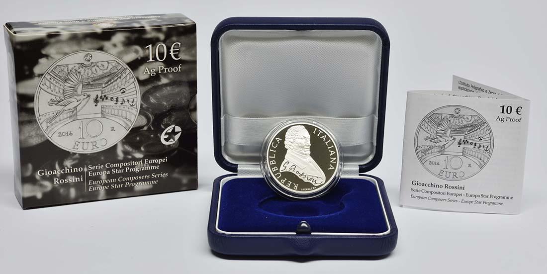 Lieferumfang:Italien : 10 Euro Gioacchina Rossini  2014 PP